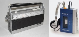 Sony EFM-117J radio and Walkman