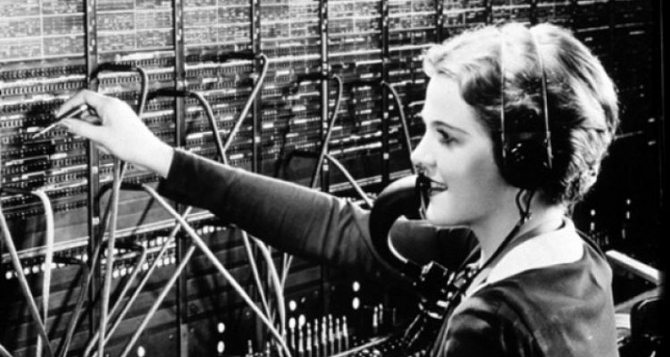 Telephone Operator at Work