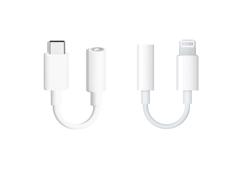 Google USB Type C to 3.5mm adaptor and Apple Lightning to 3.5mm Adaptor